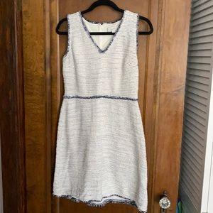 Loft Textured V-neck Dress